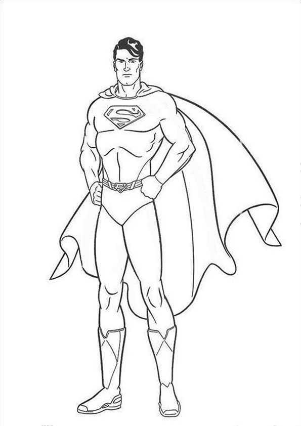 ausmalbilder superman -7