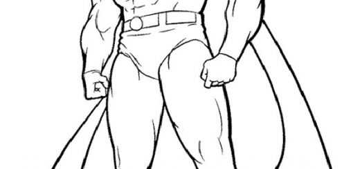 ausmalbilder superman -9