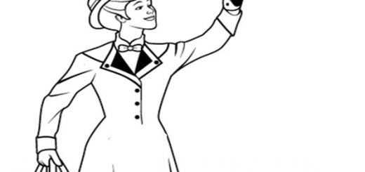 ausmalbilder mary poppins-7