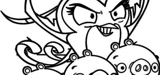 ausmalbilder angry birds stella -2
