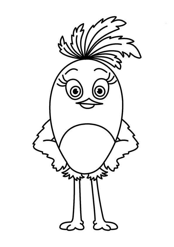 ausmalbilde rangry birds stella -9