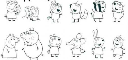 Peppa Pig 25 Ausmalbilder Malvorlagen