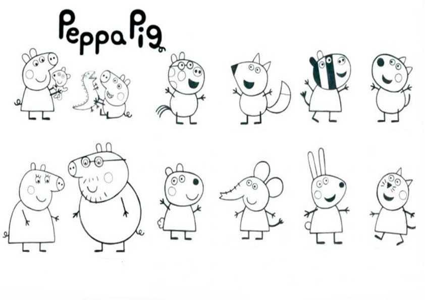 peppa pig26  ausmalbilder malvorlagen