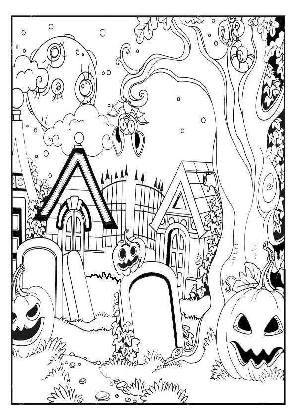 ausmalbilder  halloween -80