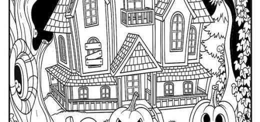 ausmalbilder halloween -85