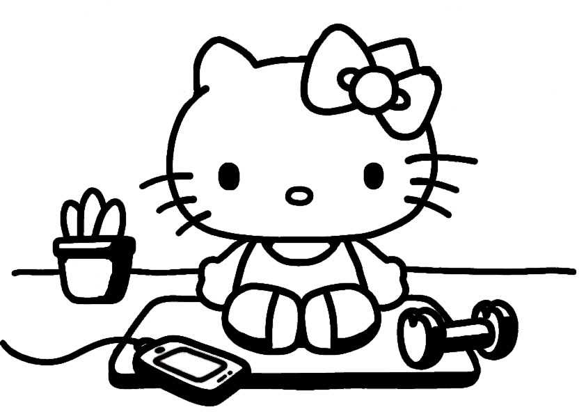hello kitty78  ausmalbilder malvorlagen